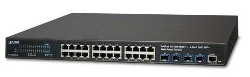 24-port 10/100 / 1000Mbps + 4-port 10G SFP + Web Smart Switch PLANET GS-2240-24T4X
