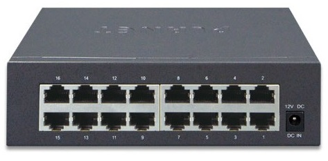 16-port 10/100 / 100Mbps PLANET GSD-1603 Switch