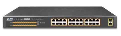 Bộ chuyển mạch PoE 24 cổng 100/100 / 1000Mbps GSW-2620HP