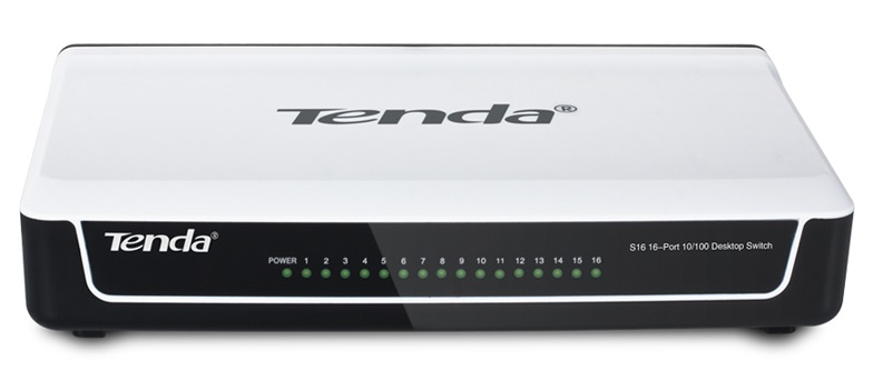 16 ports 10 / 100Mbps Switch TENDA S16