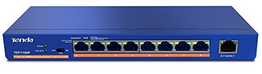 9-port 10 / 100Mbps + 8-port PoE Switch TENDA TEF1109P