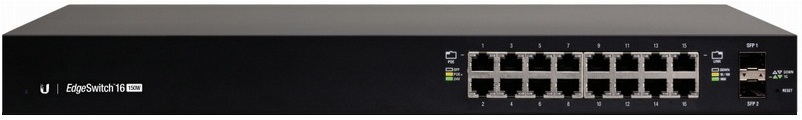 16-Port Managed PoE + Gigabit Switch with SFP UBIQUITI EdgeSwitch ES-16-150W