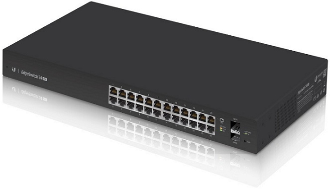 24-Port Managed Gigabit Switch with SFP UBIQUITI EdgeSwitch ES-24-LITE