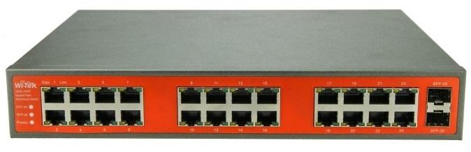 24GE + 2SFP port Full Gigabit Switch WITEK WI-SG124F