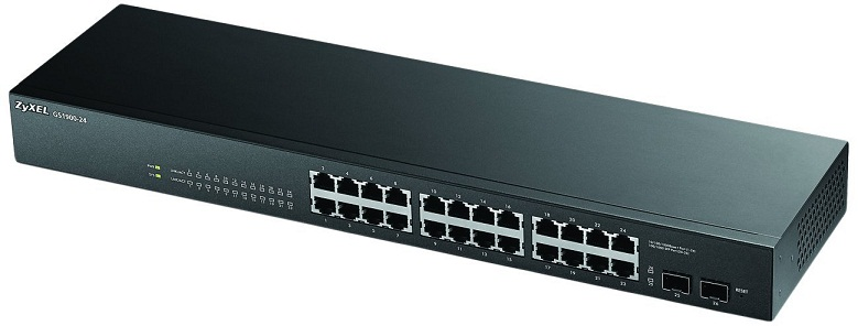 24-port GbE + 2 SFP Smart Managed Switch ZyXEL GS1900-24