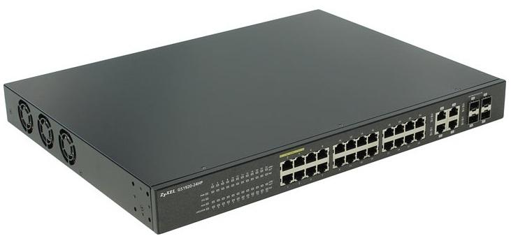 24G PoE + 4G Combo (SFP / RJ-45) Smart Managed PoE Switch ZyXEL GS1920-24HP
