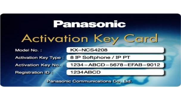Activation Key Card IP softphone hoặc IP-PT PANASONIC KX-NCS4208