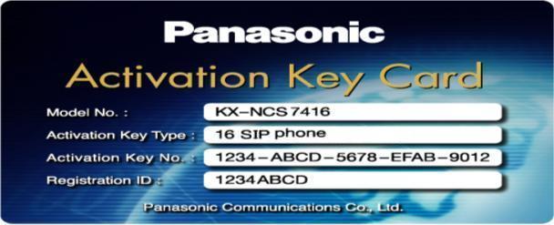 Activation Key Card máy nhánh SIP IP PANASONIC KX-NCS4716