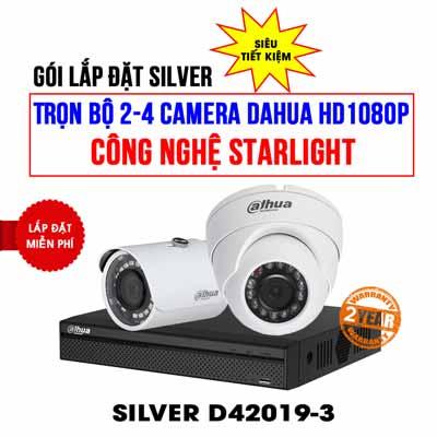 Trọn bộ 2 camera DAHUA HD1080P cho cửa hàng
