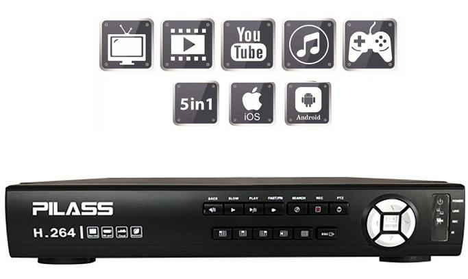 Đầu ghi hình 8 kênh 5 in 1 PILASS SNVR-C6108