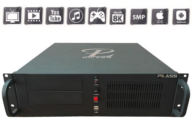 Server ghi hình thông minh 64 kênh PILASS SNVR-SR8644