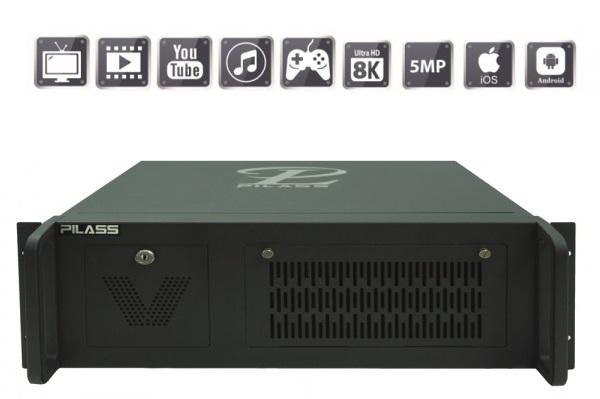 Server ghi hình thông minh 64 kênh PILASS SNVR-SR8648