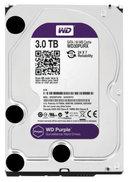 Ổ cứng chuyên dụng 3TB WESTERN PURPLE WD30PURX