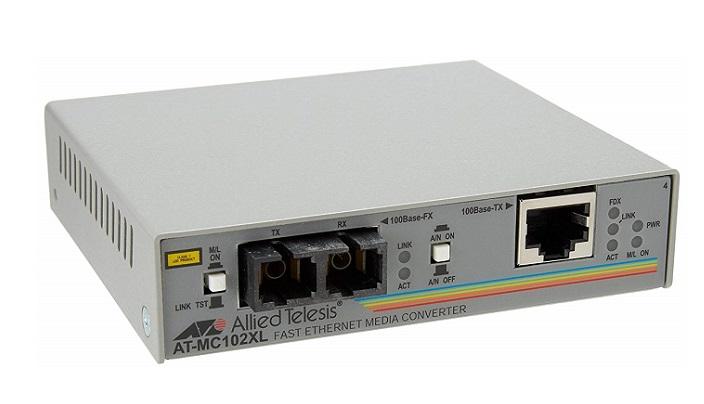 100TX to 100FX (SC) Media Converter ALLIED TELESIS AT-MC102XL