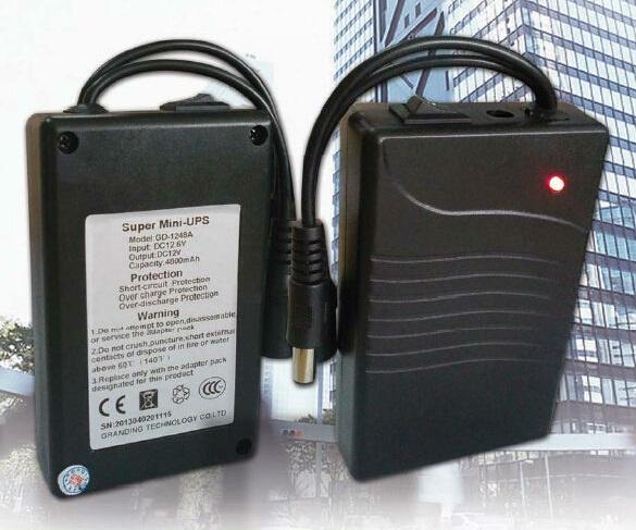 Nguồn pin lưu điện UPS Super mini dùng cho máy chấm công GD-1248A