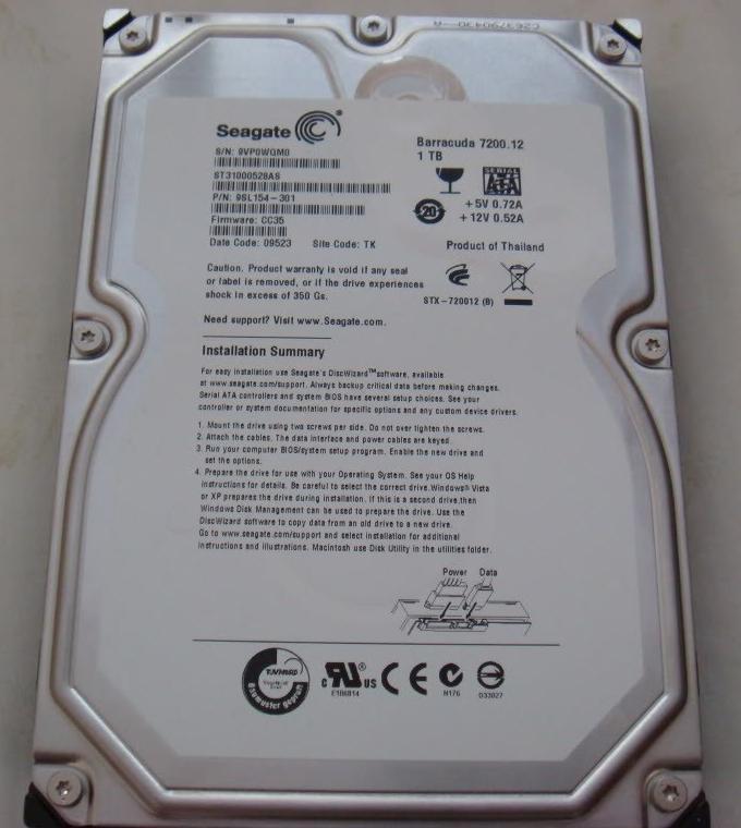 Hard Drive-Hard Drive Barracuda® 3.5-inch Seagate 1TB SATA II 7200rpm