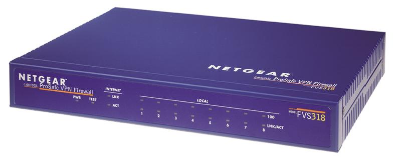 ProSafe VPN Firewall 8 w/8 port 10/100 switch - FVS318
