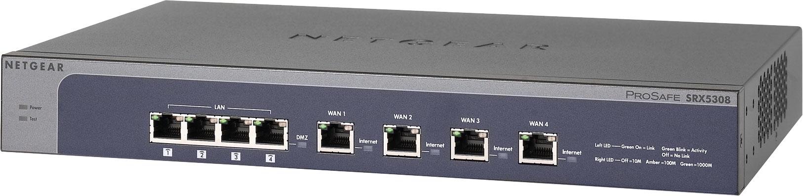 ProSafe® quad WAN gigabit SSL VPN firewall - SRX5308
