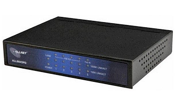 5-port 10/100 / 1000M PoE Ethernet Switch ALLNET ALL8845PD