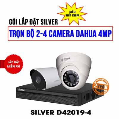 Trọn bộ 2 camera DAHUA 4MP
