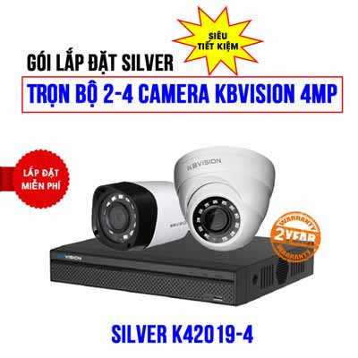Trọn bộ 2 camera KBVISION 4MP cho công ty