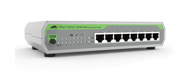 8-port 10 / 100TX Unmanaged Fast Ethenet Switch ALLIED TELESIS AT-FS710 / 8E