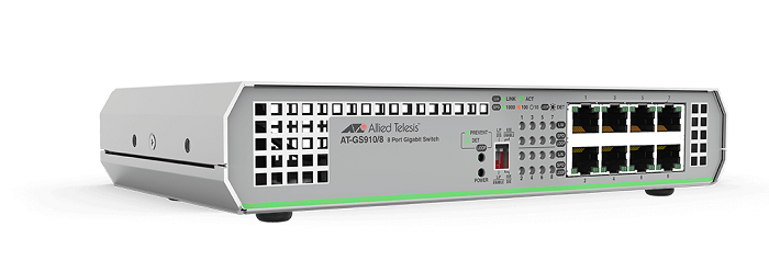 8-port 10/100 / 1000T Gigabit Ethernet Unmanaged Switch ALLIED TELESIS AT-GS910 / 8-10