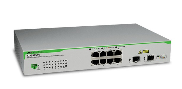 8-port 10/100 / 1000T WebSmart Switch ALLIED TELESIS AT-GS950 / 8