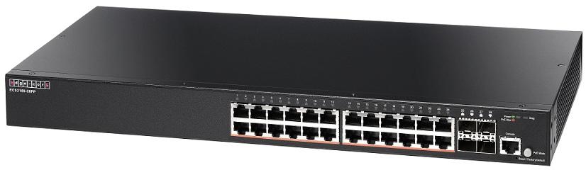 24-Port Gigabit Web-Smart Pro Switch PoE Edgecore ECS2100-28PP
