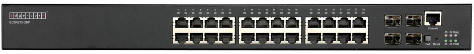 24-Port L2 + Gigabit Ethernet Access / Aggregation PoE Switch Edgecore ECS4210-28P