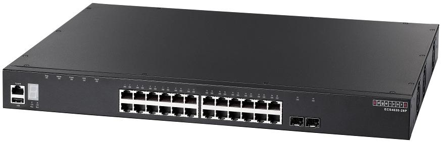 24-Port L3 Gigabit Ethernet Stackable Switch PoE Edgecore ECS4620-28P